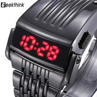 Hot Iron Man 2 Conception OEM Brand Blue Red LED Mens Luxury Army Military Army Watches