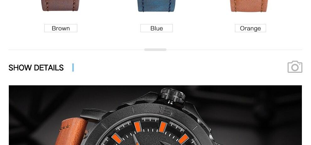 NAVIFORCE Men's Fashion Business Quartz Wristwatches Creative Sports Watches Men Luxury Brand Watch Clock Male Relogio Masculino