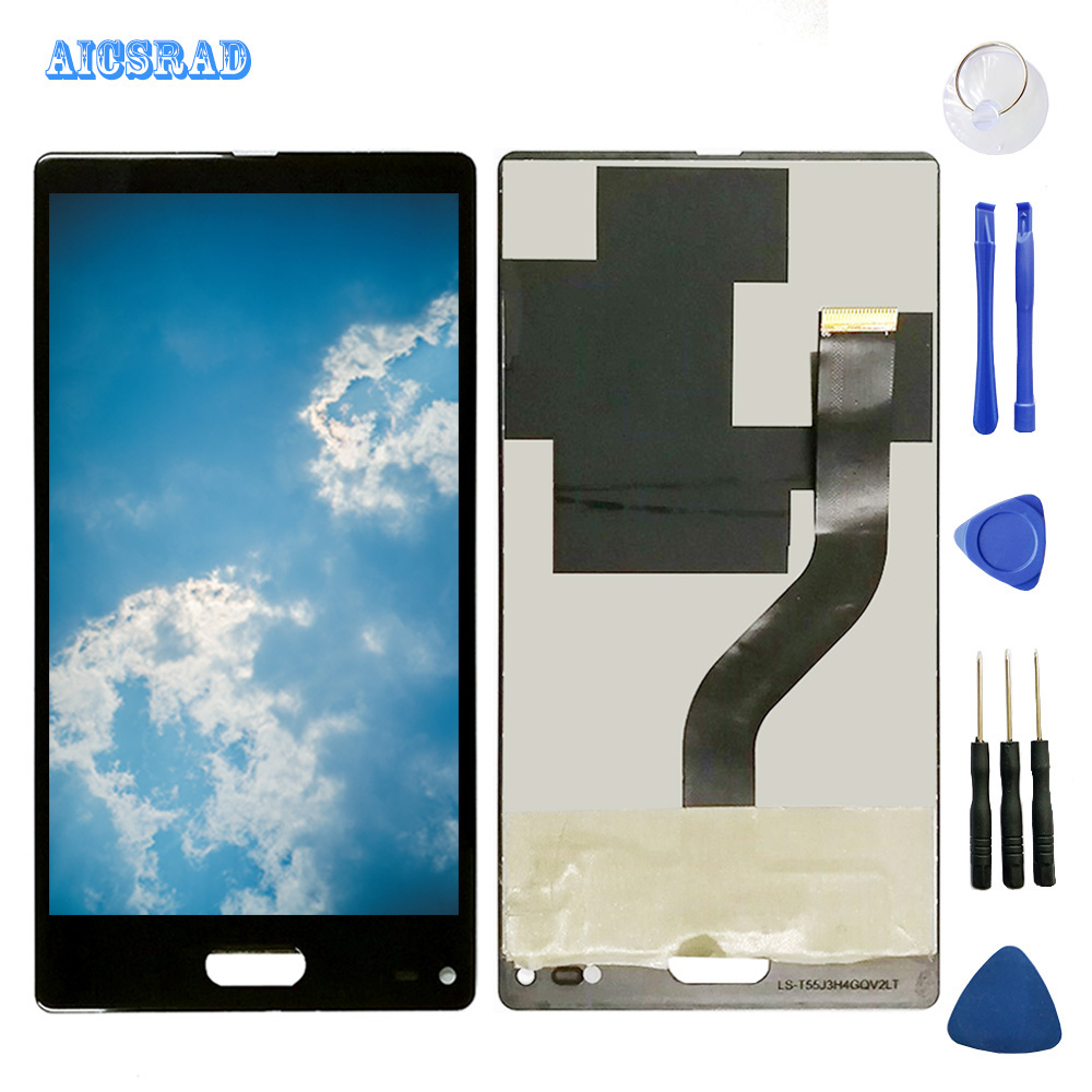 AICSRAD LCD Display For ULEFONE MIX Touch Screen Panel Assembly with frame Replacement Screen ulefonemix Phone