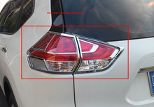 цена на Hot For nissan X-trail xtrail T32/Rogue 2014-2016 car body Rear tail back Light lamp frame stick chrome ABS cover trim 4pcs