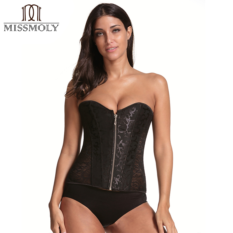 New Gothic Steampunk Clothing Women   Bustier     Corset   Top 4 Colors Plus Size Waist Trainer Cincher Body Shaper   Corsets   and   bustiers