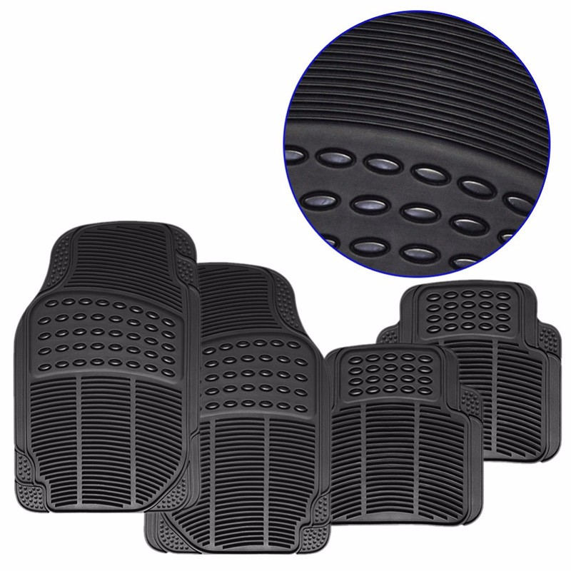 Universal 4PCS Car Floor Mats Rubber PVC Front mat Rear Mats for LHD AND RHD Car 11 pc charcoal scottsdale seat covers front rear l cargo rubber mats universal