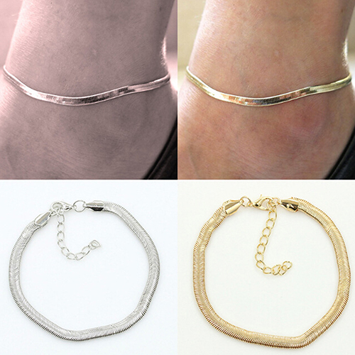 Women s Sexy Fish Scales Anklet Chain Beach Sandal Ankle Bracelet Foot font b Jewelry b