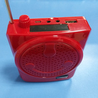 With 18650 Battery USB TF FM Radio Loudspeaker Voice Amplifier Booster Megaphone Speaker For MP3 Teaching