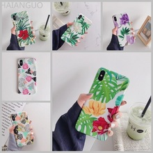 Stitching pineapple maple leaf retro flower phone case for iPhone 8 7 6 S plus X 10 XR XS MAX back cover