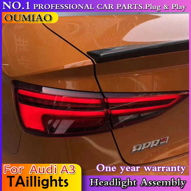 OUMIAO For Audi A3 taillights 2013-2017 for A3 rear lights dedicated car  light led taillight assembly Back lamp