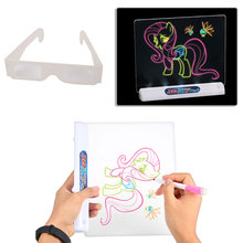 3D Magic Painting Board 3D Drawing Board 3D Magic Drawing Board Plastic Three Dimensional Tablet Education Creative Pen 3D