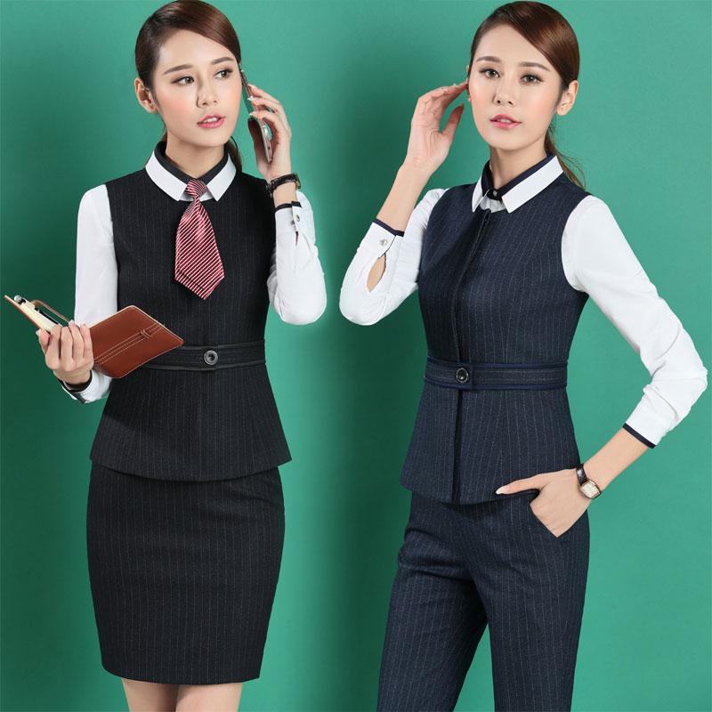 Business Blue Pantsuits Work Grande Gilet black Pantsuits Pantalon Women Pantsuits Professionnel Uniformes Taille Tenues jupe Costumes Suit Suits Dames Skirt Wear Black Formelles dark Blazers 4xl dark 0qwXnRtrX