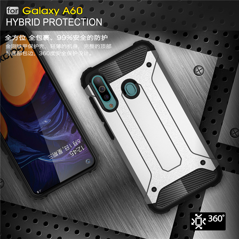 For Samsung Galaxy A60 Case SM A606 Shockproof Armor Rubber Phone Case For Samsung Galaxy A60 Back Cover For Samsung A60 Case-in Fitted Cases from Cellphones & Telecommunications