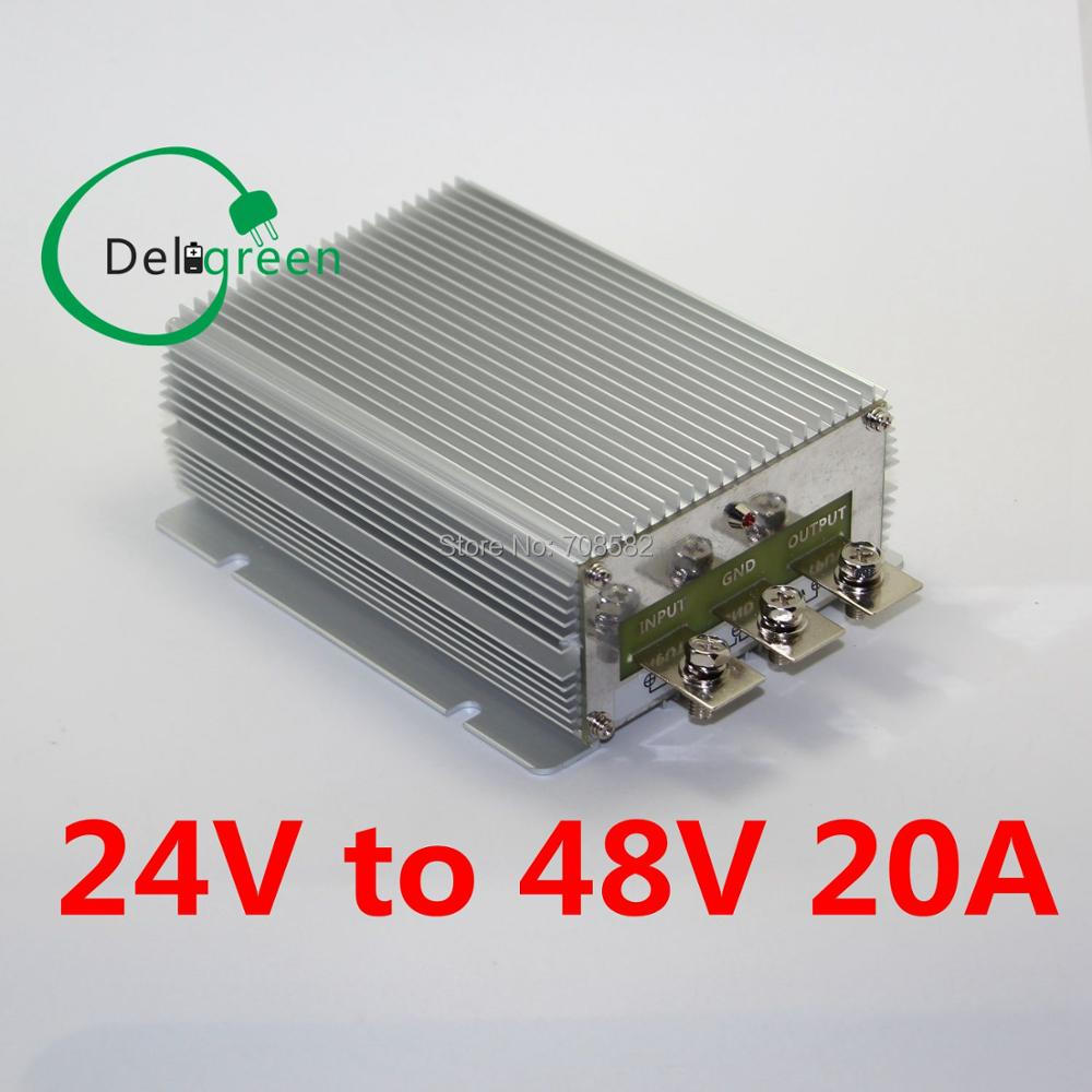 QNBBM 24V to 48V 20A 1000W DC DC Converter Regulator Car Step up boost module power supply free shipping dc 12v 9 v 18 v step up to dc 19v 20a 380w boost power converter regulator module
