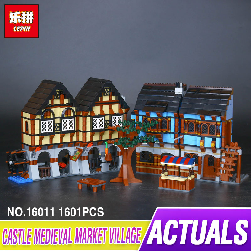 New Lepin 16011 1601Pcs Castle Series The Medieval Manor Castle Set Educational Building Blocks Bricks Model Toys Gift 10193 lepin 16017 castle series genuine the king s castle siege set children building blocks bricks educational toys model gifts