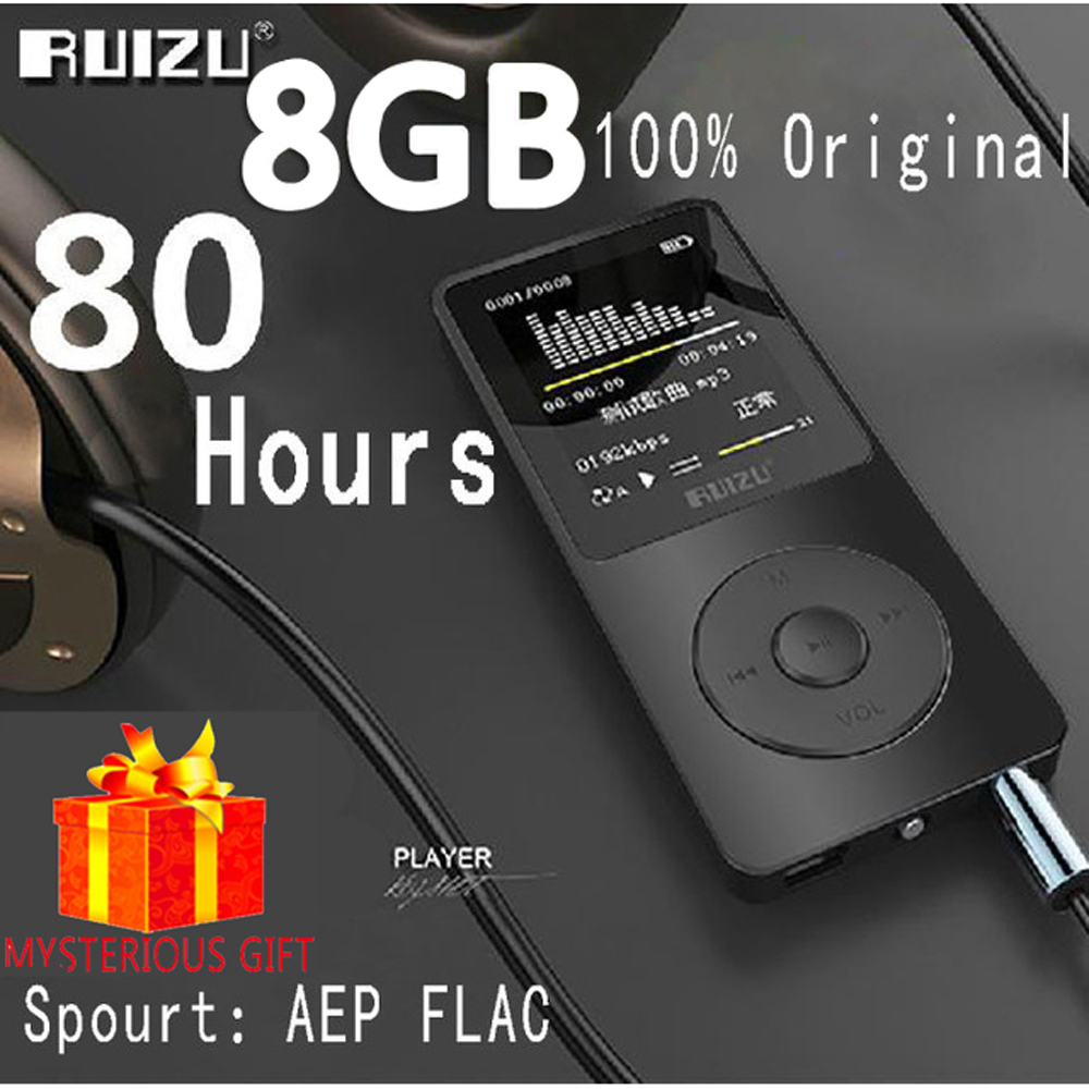 Ruizu X02 Lossless Flac Portable Mini Hifi Digital Sport Audio Screen Mp 3 Music Mp3 Player 8GB With Headphones Radio FM TF SD 2016 new style mini mp3 player sport hifi lossless music player 16gb hot sales for mobile phone pc tablet