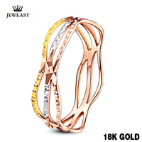 2017 18K Gold Color Ring For Girlfriend With Fashion Trendy Design Smart Small Women Fine Jewelry