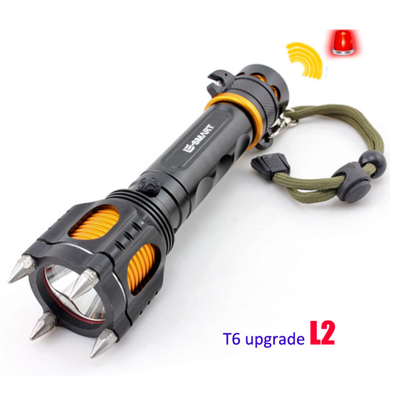 Super Bright Cree Xm-L2 Led Flashlight Torch Light Police Tactical Led Flash Light Lamp Defensive Multi-Function Lampe Torche