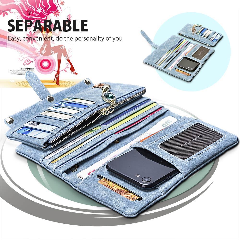 ARTISOME Cartera de cuero Funda femenina para iPhone 5S 5 SE 6 6S 7 - Accesorios y repuestos para celulares - foto 4