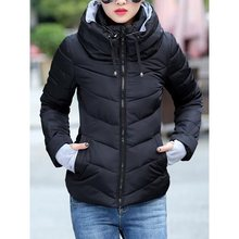 Winter Women Parka Warm Fashion Overcoat Zipper Hooded Jeep Jacket Coat Slim Casual Solid Windproof Outwear women winter warm lapel trench parka coat jacket long slim overcoat outwear
