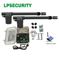 Free shipping 220V AC Electric opener Linear Actuator Automatic Swing Gate motor kit y GSM door opener optional