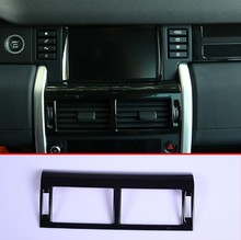 For Land rover Discovery Sport 2015-2018 Car-Styling ABS Plastic Gloss Black Center Console Air Conditioning Vent Trim Part решетка радиатора gloss narvik black для land rover discovery 5