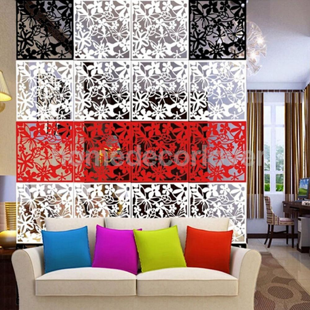 4x Butterfly Flower Hanging Screen Curtain Room Divider Partition Wall 3 Colors
