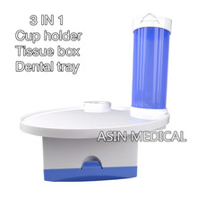 2016 new Dental Cup Storage Holder dental paper tissue Dental tray  box 3-in-1 for Dental Chair Accessory