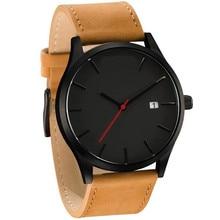 Luxury Brand Men Watches Men's Sports Quartz Clock Man Leath