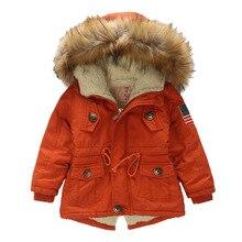 Kids coat Winter Boys Girls Jacket Hooded Outerwear