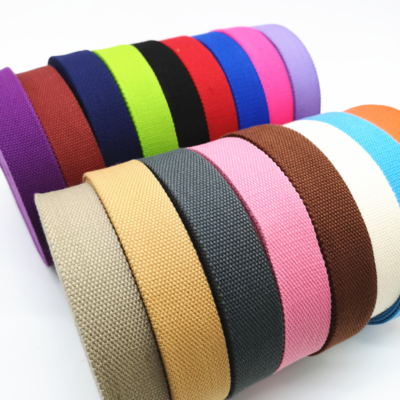 2 Yards 32mm Canvas Ribbon Belt Bag Thickening(2mm) Cotton Webbing Nylon Webbing Knapsack Strapping Sewing Bag Belt Accessories