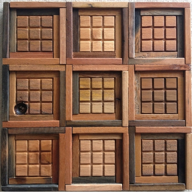 Aliexpresscom Buy 100 natural wood tile wooden mosaic kitchen