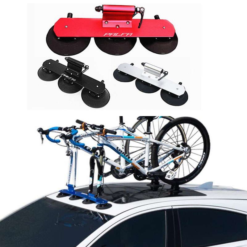 Bike Racks BR10 Suction Cups Rooftop Holder 1 2 3 Bicycle Rack on Car For Mountain