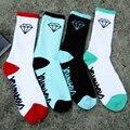 2015 Мода Новые марка алмаз высокой Талией хлопок трубка носки помочь мужчинам и женщинам носки полотенце носки скейтборд