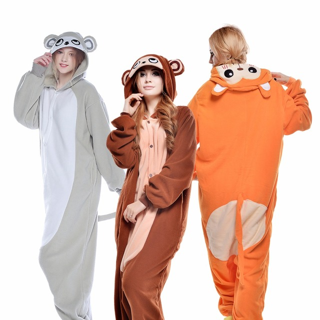 544be03ab Newcosplay Unisex Cartoon Monkey Onesies Pajamas Anime Cosplay ...