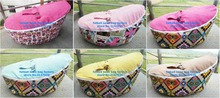 12 designs , each design 25pcs BABY bean bag chair — 2 upper covers — one with belt, another without , fast shipping express
