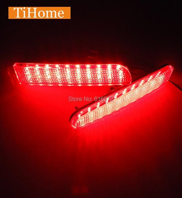 Venda quente!!! free envio led bumper refletor luz traseira modificada carro cauda luz de freio para mitsubishi lancer e asx rvr