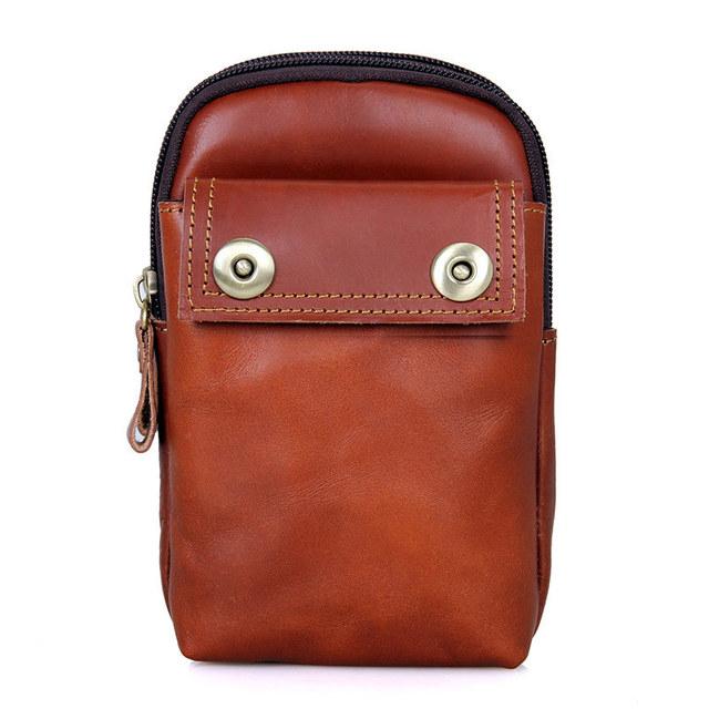Garantía 100% de cuero genuino moda hombres paquetes de la cintura ocasional teléfono móvil bolsos de la carpeta para los hombres bolso de la cintura paquete de la mano