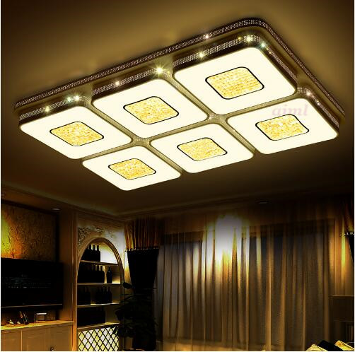 Modern led ceiling lights crystal LED lighting fixtures lamp bedroom living acrylic light new design lights 110/220v Hollow lamp city girls diy model leia birthday dinner building blocks sets bricks model kids gift children toys compatible lepins friends