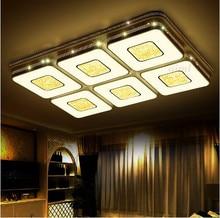 Modern led ceiling lights crystal LED lighting fixtures lamp bedroom living acrylic light new design 110/220v Hollow