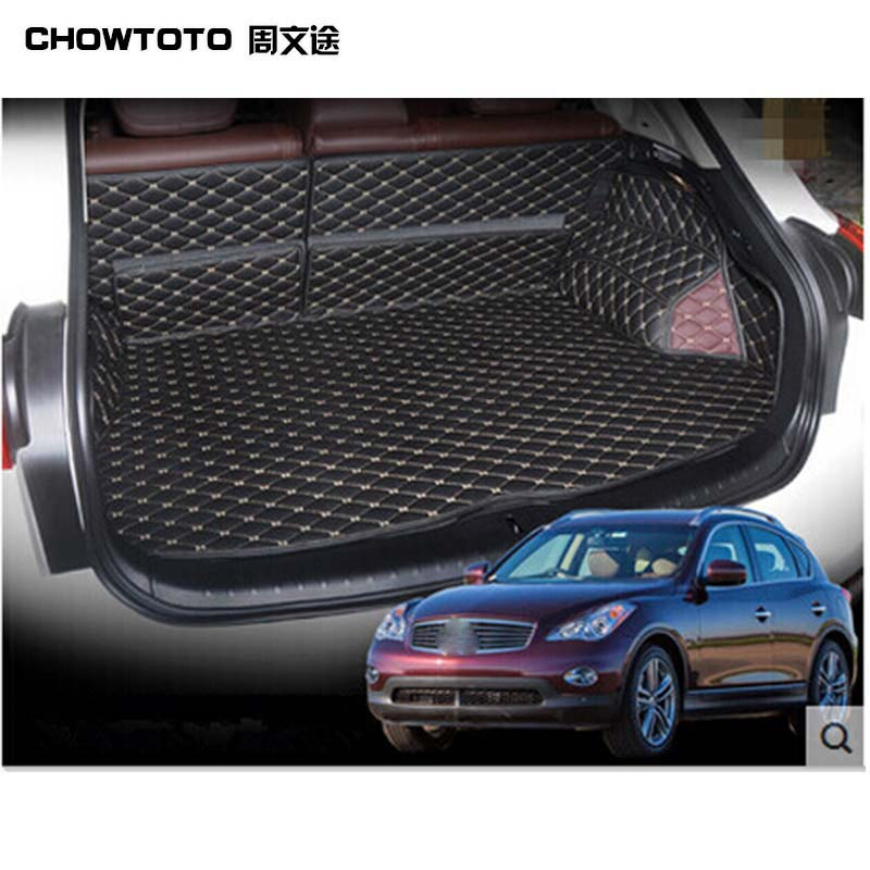 CHOWTOTO AA Custom Special Trunk Mats For Infiniti QX50 Easy To Clean Waterproof Boot Carpets For QX50 Lagguge Pad