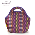 High Quality Women Neoprene Lunch bag Handbag Thermal Cooler Tote Storage Food Picnic Lunch Bags for Women kids Adult Portable