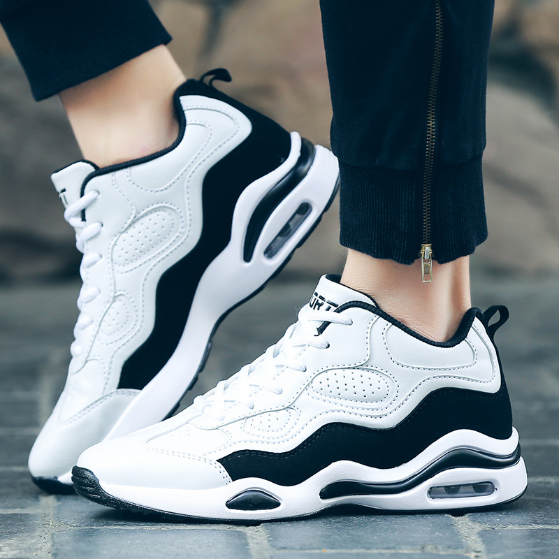 Outdoor Sneakers for men basketball shoes fashion comfortable breathable white and black sport shoes brand for men in Basketball Shoes from Sports Entertainment