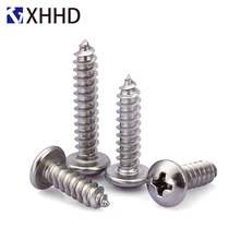 Phillips Pan Round Head Self Tapping Electronic Screw Metric Thread Cross Recessed Self-Tapping Bolt 304 Stainless Steel M6 M8 torx self tapping screw st4 2 security pin in torx drive pan head stainless steel t20 pack 500