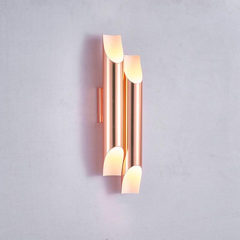 Postmodern minimaliste bouche oblique tubulaire lampe décorative salon salle à manger ingénierie modèle applique lampe designer lampe