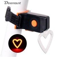 뜨거운 새로운 자전거 테일 라이트 자전거 비주얼 경고 램프 라운드 하트 모양 USB 충전 사이클링 MTB 후면 안전 COB LED 랜턴