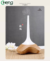 Led Light Portable Mist Maker Aroma Essential Oil Diffuser Ultrasonic Air Humidifier Wooden Aroma Diffuser