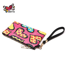 Purchase  BRITTO PU Wallet Coin Purse Phone Case For iPhone 6S 6S Plus Galaxy HTC Mobile Phone Classic Graffiti Coin Wallet