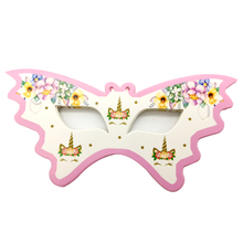 Happy Birthday Events Party Girls Kids Favors Wedding Eye Cover Unicorn Theme Decoration Baby Shower Paperboard Masks 10PCS/PACK