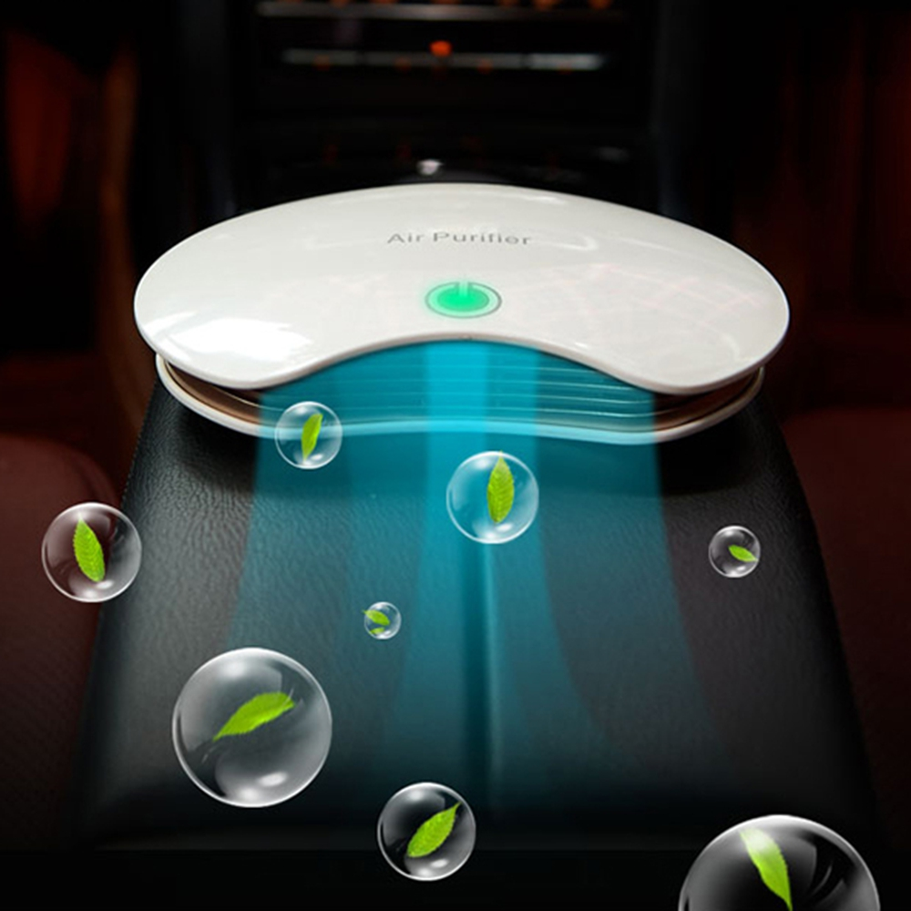 Car Air Ionizer Household Sterilize Car Air Purifier with Auto Air Freshener Accessories PM2.5 Formaldehyde Smell Removal Anion car outlet perfume air freshener with thermometer lime