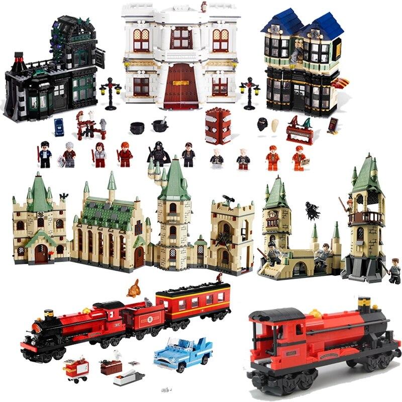 Harry potter série magique poudlard château poudlard train mot magique diagonale Compatible avec les legoings diagonale ruelle bloc briques