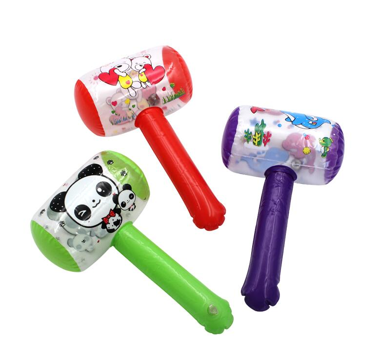 Inflatable Hammer Children Cheap Kids Cartoon With Bell Blow-Up-Toys Small-Size GYH 1pc