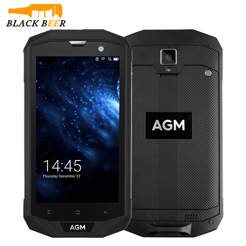 AGM A8 Smartphone IP68 étanche téléphone portable 5.0 HD écran tactile 3 GB/4 GB Qualcomm MSM8916 Quad Core Android caméra téléphone portable