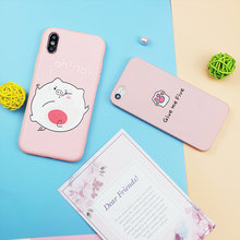 Cute Pink Phone Case For iPhone 7 8 6 6S Plus 5 S SE Cases Yellow Cover Funny Expression Coque For iPhone XR XS Max Black Case zs002 colorful protective pu leather case for iphone 5 white deep pink yellow pink